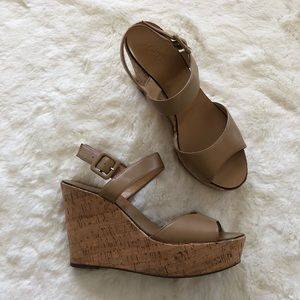 J. Crew Cork Wedges